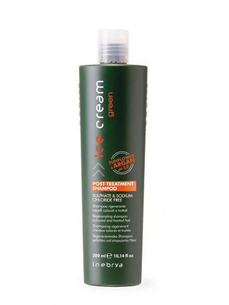 Shampoing régénérant cheveux colorés et traités sans sulfate GREEN INEBRYA 300 ml