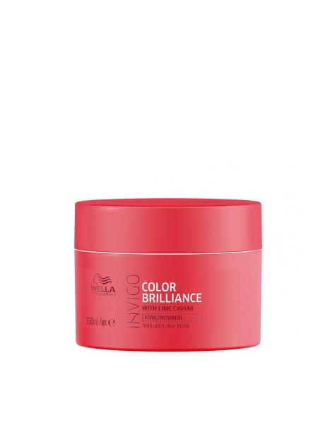 Masque couleur cheveux fins et normaux BRILLANCE INVIGO WELLA 150 ML