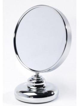 Miroir double face diamètre 13 cm sur pied face grossissante x10 Zingus