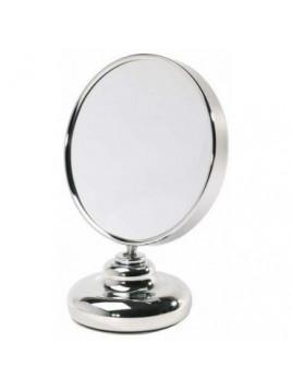 Miroir double face diamètre 20 cm sur pied face grossissante x8 Zingus