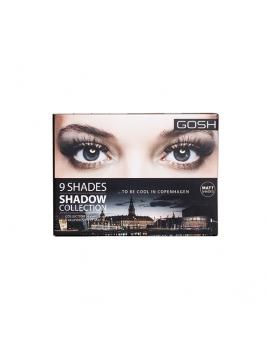 "Palette 9 fards à paupières ""To Be Cool In Copenhagen"" GOSH packaging"